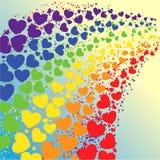 Arco-íris dos corações Imagens de Stock Royalty Free