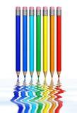 Arco-íris dos lápis Fotografia de Stock