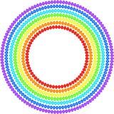 Arco-íris dos ovos da páscoa Fotografia de Stock