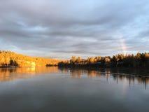 Arco-íris dourado Foto de Stock Royalty Free