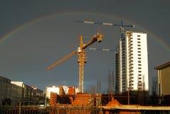 arco-íris e guindaste Fotografia de Stock Royalty Free