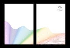 Arco-íris e moldes abstratos brancos do fundo Ilustração Stock