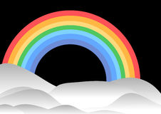 Arco-íris e montes Fotos de Stock Royalty Free