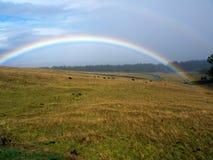 Arco-íris e nuvens tormentosos Fotografia de Stock Royalty Free
