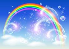 Arco-íris e saudação ilustração royalty free