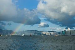 Arco-íris em Hong Kong fotografia de stock