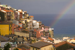 Arco-íris em mediterrâneo Fotos de Stock Royalty Free