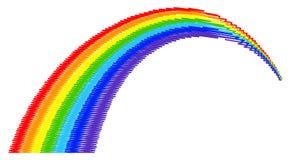 Arco-íris em um fundo branco ilustração stock