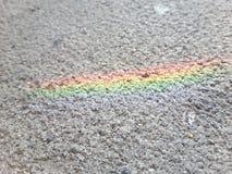 Arco-íris em uma parede Imagem de Stock