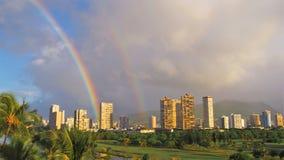 Arco-íris Honolulu do leste Fotografia de Stock Royalty Free