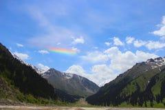 Arco-íris horizontal incomum Imagem de Stock Royalty Free