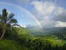 Arco-íris Kauai de Hanalei imagem de stock