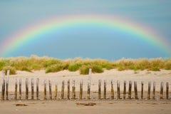 Arco-íris litoral fotografia de stock