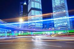 Arco-íris Lujiazui na paisagem urbana de Shanghai Imagem de Stock Royalty Free