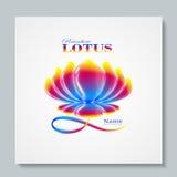 Arco-íris luxuoso Lotus do logotipo da imagem Projeto de negócio para termas, classe da ioga, hotel e recurso Illusration do veto Foto de Stock