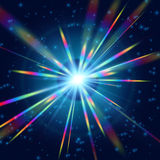 Arco-íris mais brilhante da radiação cósmica ilustração stock