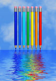 Arco-íris na água Foto de Stock