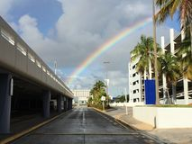 Arco-íris na cidade Foto de Stock