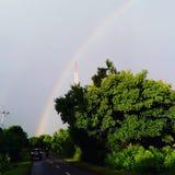 Arco-íris na manhã Imagem de Stock