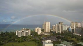 Arco-íris na praia de Waikiki Imagens de Stock Royalty Free