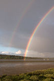 Arco-íris no barco Foto de Stock Royalty Free