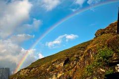 Arco-íris no céu Imagens de Stock