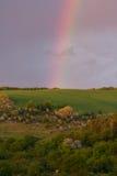Arco-íris no monte Foto de Stock Royalty Free