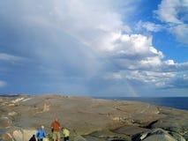 Arco-íris? Que arco-íris? Imagens de Stock Royalty Free
