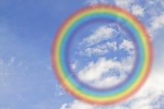 Arco-íris redondo no céu Fotografia de Stock Royalty Free