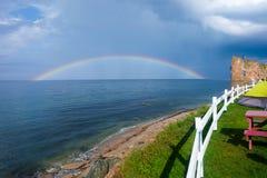 Arco-íris sobre a água Foto de Stock Royalty Free