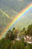 Arco-íris sobre a estrada Fotografia de Stock
