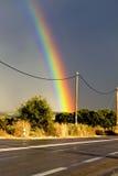 Arco-íris sobre a estrada Foto de Stock Royalty Free