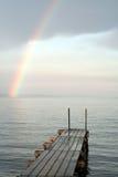 Arco-íris sobre o mar Imagens de Stock