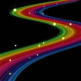 Arco-íris surpreendente abstrato Imagem de Stock
