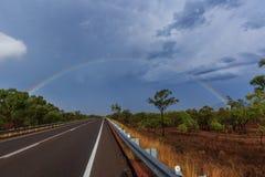 Arco-íris tormentoso Imagem de Stock