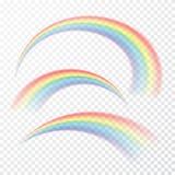 Arco-íris transparente Ilustração do vetor Raibow realístico no fundo transparente ilustração royalty free