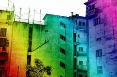 Arco-íris urbano Imagens de Stock