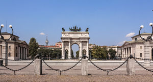 Arco ρυθμός della, Μιλάνο Στοκ φωτογραφίες με δικαίωμα ελεύθερης χρήσης