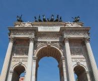 Arco ρυθμός della, Μιλάνο Στοκ φωτογραφία με δικαίωμα ελεύθερης χρήσης