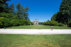 Arco ρυθμός della που βλέπει Ιταλία από το πάρκο Sempione στο Μιλάνο, Στοκ Εικόνες