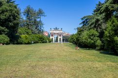 Arco ρυθμός della που βλέπει Ιταλία από το πάρκο Sempione στο Μιλάνο, Στοκ Φωτογραφία