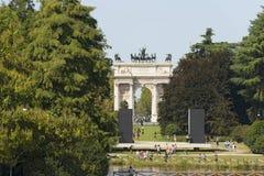Arco ρυθμός della - Parco Sempione Μιλάνο Ιταλία Στοκ φωτογραφία με δικαίωμα ελεύθερης χρήσης