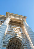Arco ρυθμός della (Porta Sempione) στο Μιλάνο - την Ιταλία Στοκ εικόνα με δικαίωμα ελεύθερης χρήσης