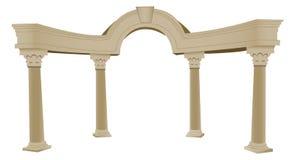 arco 3D y columna griegos ilustración del vector