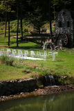 Arco adornado para la ceremonia de boda Fotografía de archivo