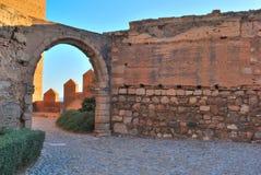 Arco Alcazaba Immagini Stock Libere da Diritti