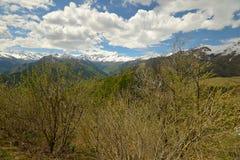 Arco alpino Snowcapped in primavera Immagine Stock Libera da Diritti