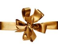 Arco & nastro dorati Immagine Stock