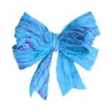Arco blu-chiaro della carta del gelso su bianco immagine stock