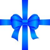 Arco blu del regalo Immagini Stock Libere da Diritti